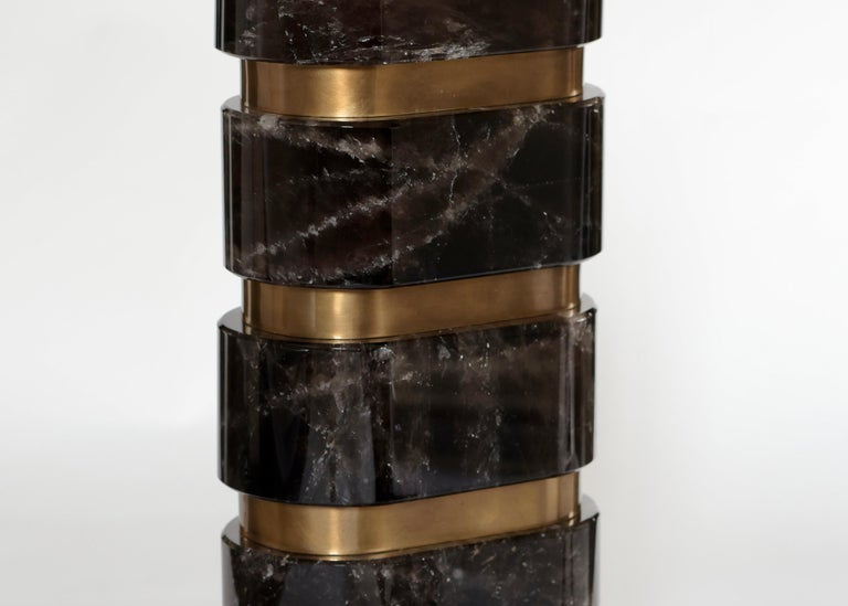 Contemporary ARC Rock Crystal Lamps by Phoenix For Sale