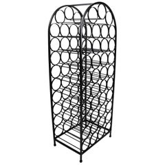 Arc Top Wrought Iron Wine Rack by Umanoff