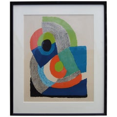 """""""Arc Vert,"""" Signed Abstract Lithograph by Sonia Delaunay, 1972"""