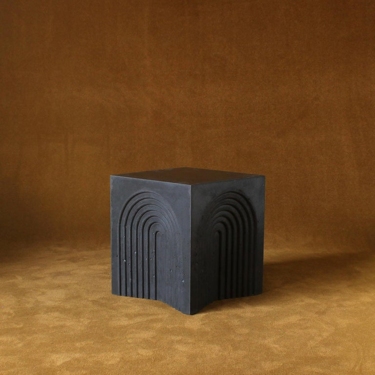 Modern Arcade Concrete Side and Accent Table For Sale