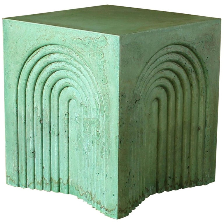 Arcade Concrete Side and End Table For Sale