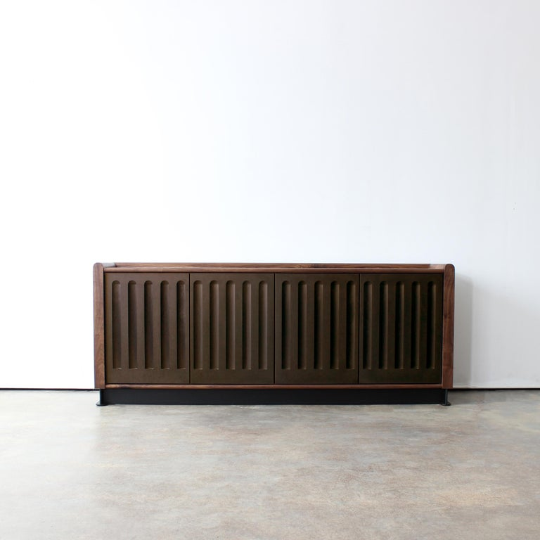 Art Deco Arcade Modern Media Console, Sideboard, or Credenza by Crump and Kwash For Sale