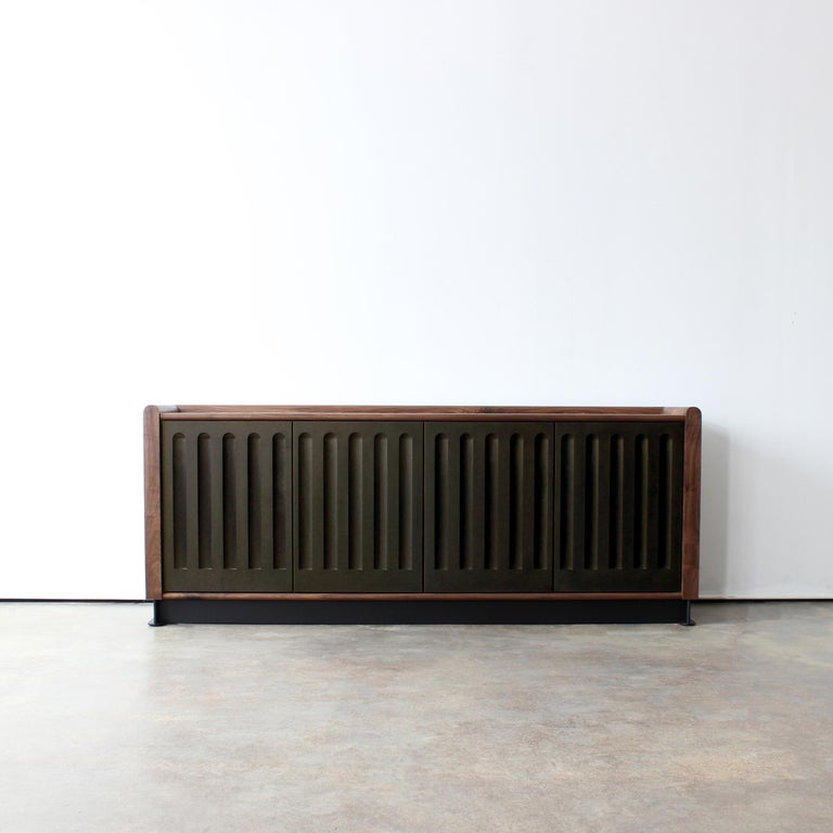 American Arcade Modern Media Console, Sideboard, or Credenza by Crump and Kwash For Sale