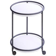 Arcade Round Wood Trolley Table