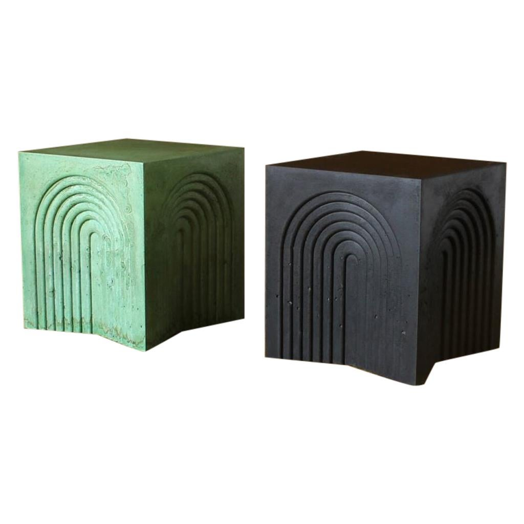 Arcade Sculptural Side Table in Concrete by Crump & Kwash