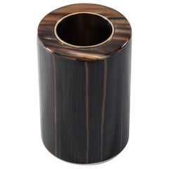 Arcahorn Altea Toothbrush Holder in Horn & Macassar Ebony Veneer by Filippo Dini
