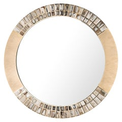 Arcahorn Astrid Round Wall Mirror in 24-Karat Gold-Plated Brass by Filippo Dini