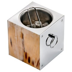 Arcahorn Cipriani Ice Bucket in Horn and Stainless Steel by Filippo Dini