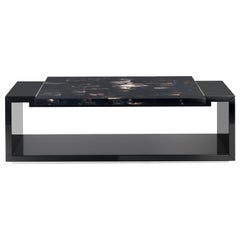Arcahorn Essenziale Coffee Table in Horn and Wood by Giannella Ventura