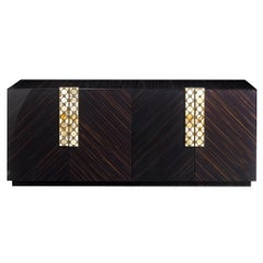 Arcahorn Otto Horizontal 4-Door Cabinet in Macassar Ebony by Filippo Dini