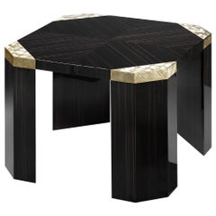 Arcahorn Small Ercolano Table in Macassar Ebony Veneer by Filippo Dini