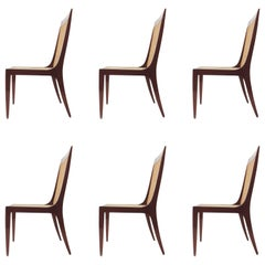 Arch. Paolo Buffa Set of Six Dining Chairs
