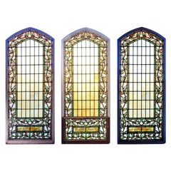 Arch Topped Stained Glass Window