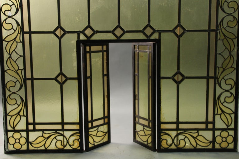 Arched 1920s Window with Moving Inside Panel In Good Condition In Pasadena, CA
