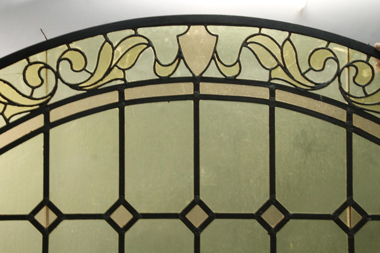 Early 20th Century Arched 1920s Window with Moving Inside Panel