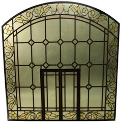Arched 1920s Window with Moving Inside Panel
