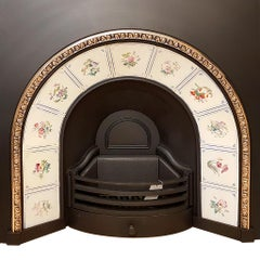 Arched Fireplace Insert with Original Tiles