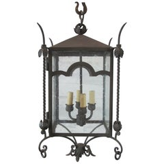 Arched Iron Large Hanging Lantern