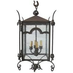 Arched Iron Large Hanging Lantern