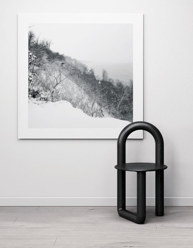 Canadian Arched Mono Side or Accent Chair in Black Solid Ash by Objects & Ideas For Sale