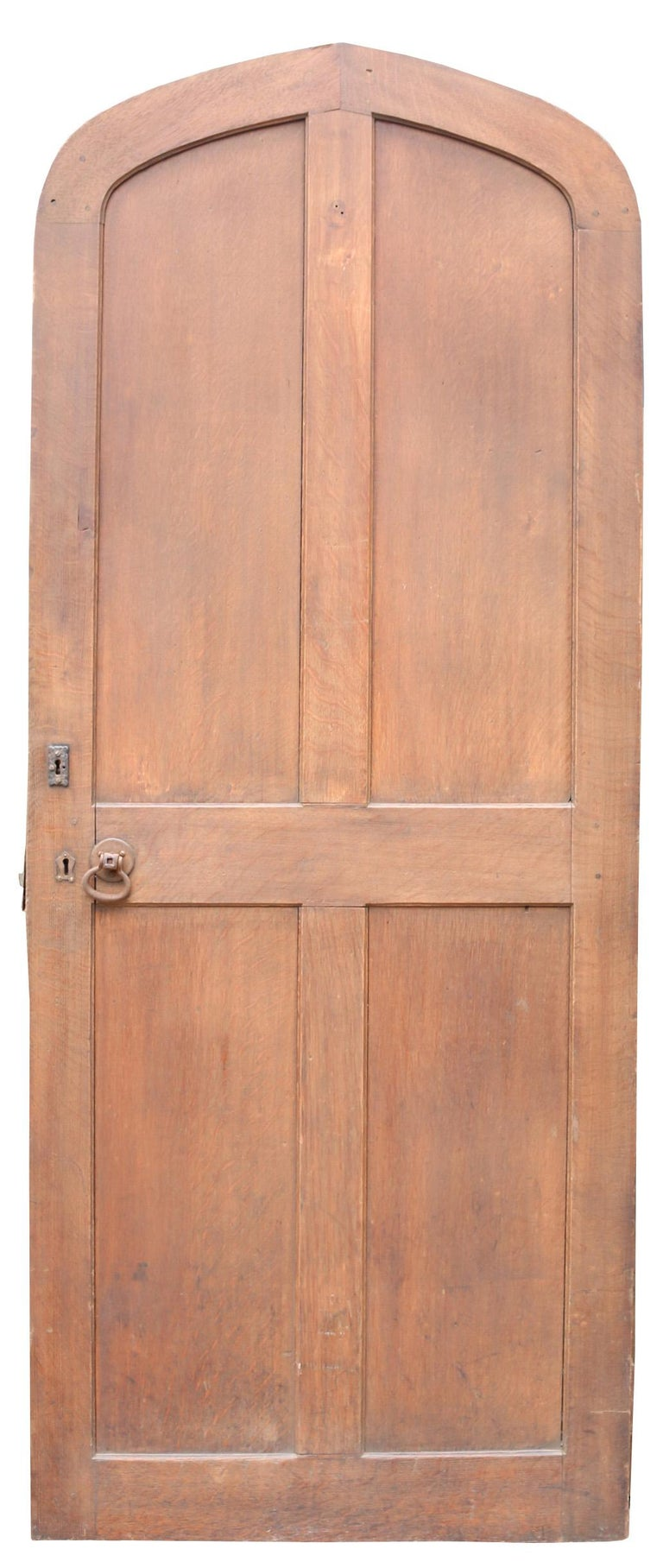 Can be used as an interior or exterior door.  There are some knocks and abrasions, normal for doors of this age.  Height 212 cm  Width 86 cm  Depth 4.5 cm  Weight 38 kg