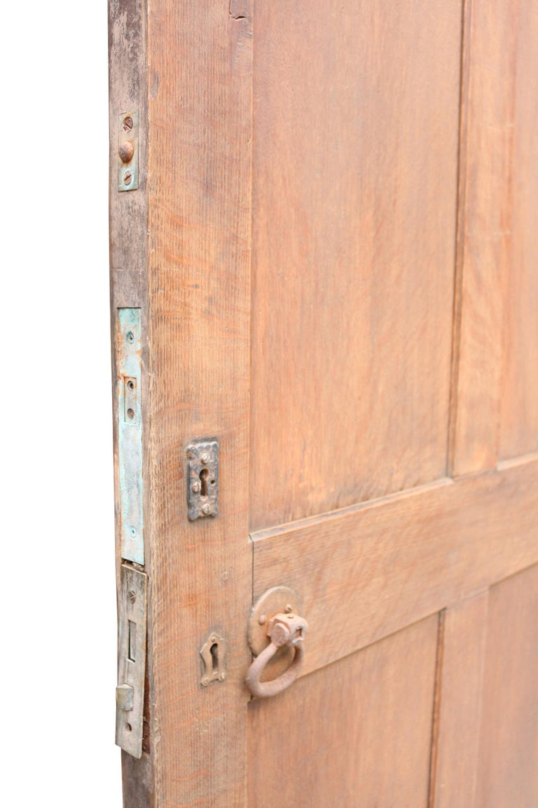 English Arched Oak Door, circa 1900 For Sale