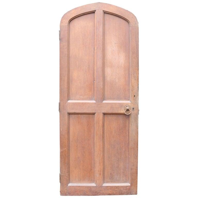Arched Oak Door, circa 1900 For Sale