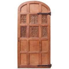 Arched Oak Interior/Exterior Door