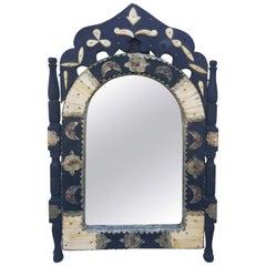 Arched Off-White Dye Camel Bone Mirror, Br 2