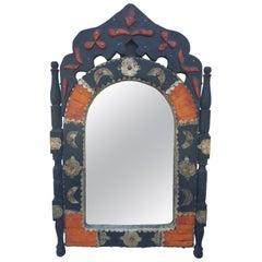 Arched Orange Dye Camel Bone Mirror, Br 1