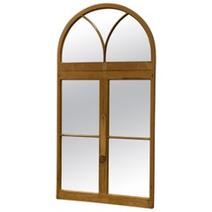 Arched Pine Architectural Full Length Mirror