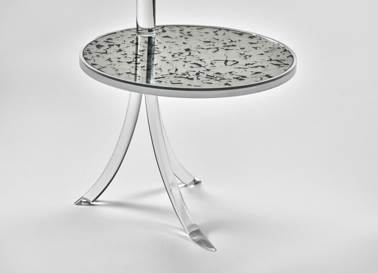 Modern Archer Contemporary Acrylic Table For Sale