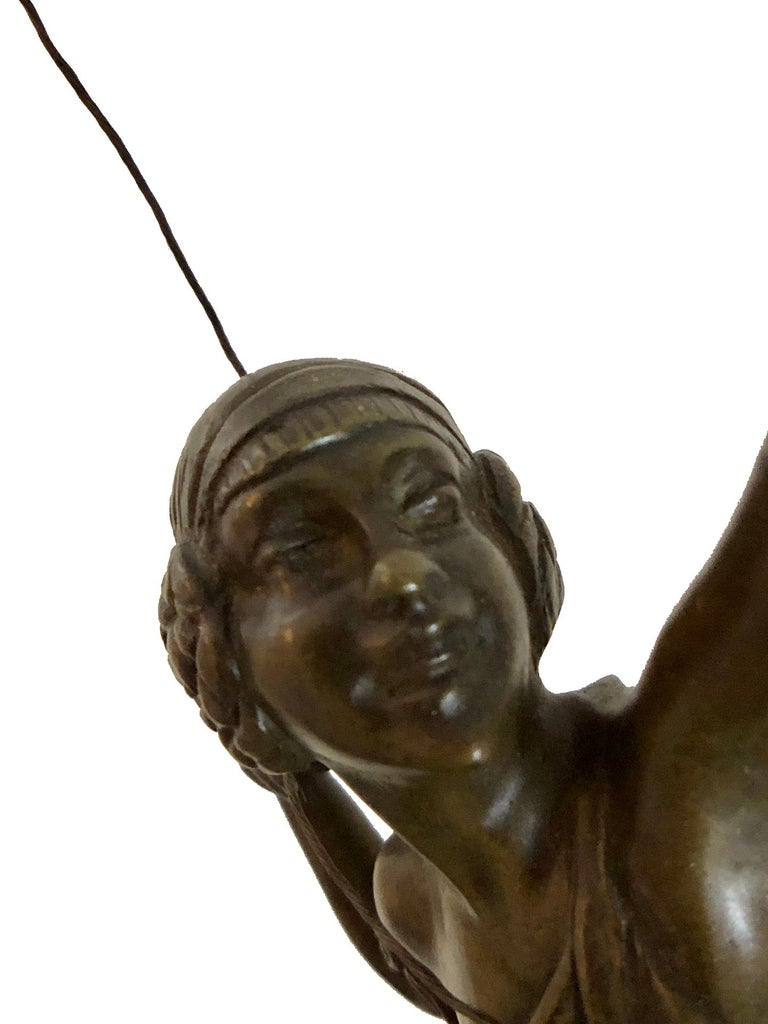 Archer Sculpture in Bronze Attributed to Pierre Le Faguays, French Art Deco For Sale 15