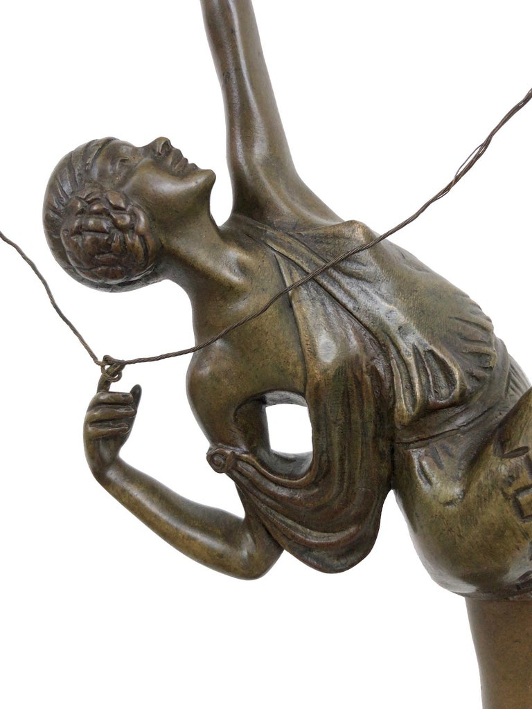 Archer Sculpture in Bronze Attributed to Pierre Le Faguays, French Art Deco For Sale 2