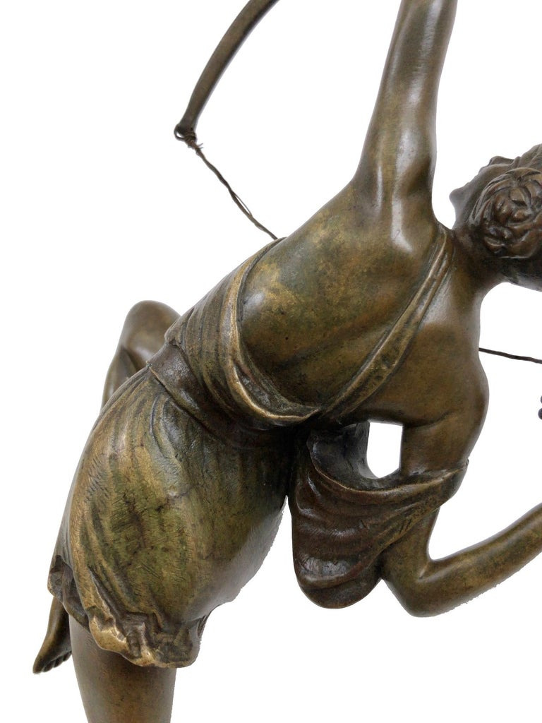 Archer Sculpture in Bronze Attributed to Pierre Le Faguays, French Art Deco For Sale 3
