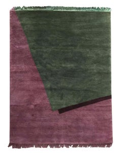 Arches - Hand Knotted Wool Rug Burgundy Green Geometrical by Carpets CC