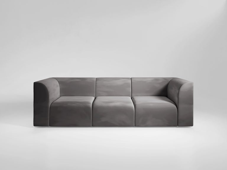 A modular sofa designed as a response to a staple of Romanesque Architecture. Designed to subtly explore the contrast between the inside and outside of a sofa, the outer sides are square and sharp, whereas the inside corners are smooth and curve