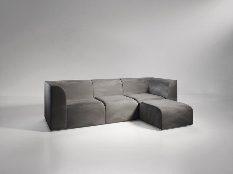 Italian Archi 3-Seat Contemporary Sofa in Fabric by Artefatto Design Studio For Sale