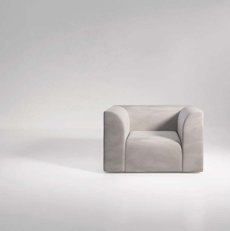 Archi 3-Seat Contemporary Sofa in Fabric by Artefatto Design Studio For Sale 2