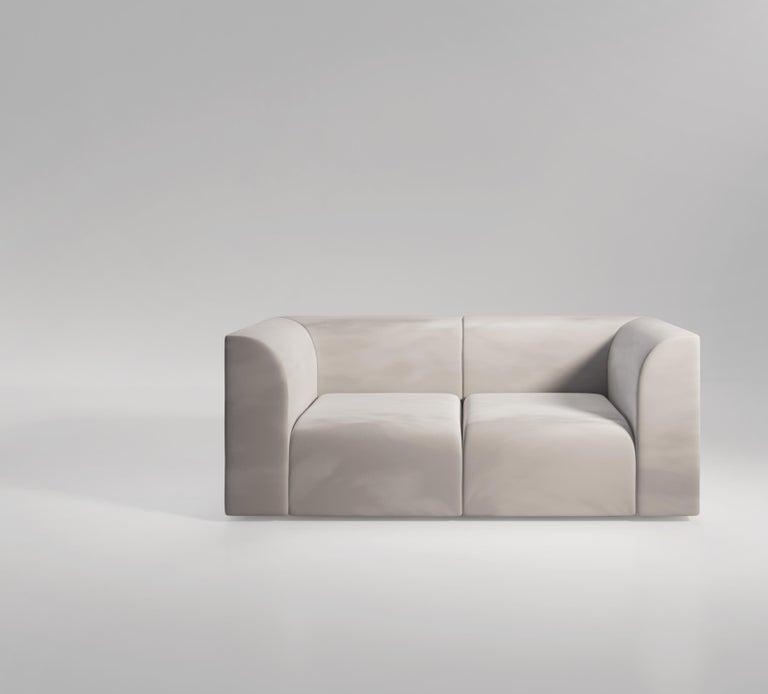 Archi 3-Seat Contemporary Sofa in Fabric by Artefatto Design Studio For Sale 3