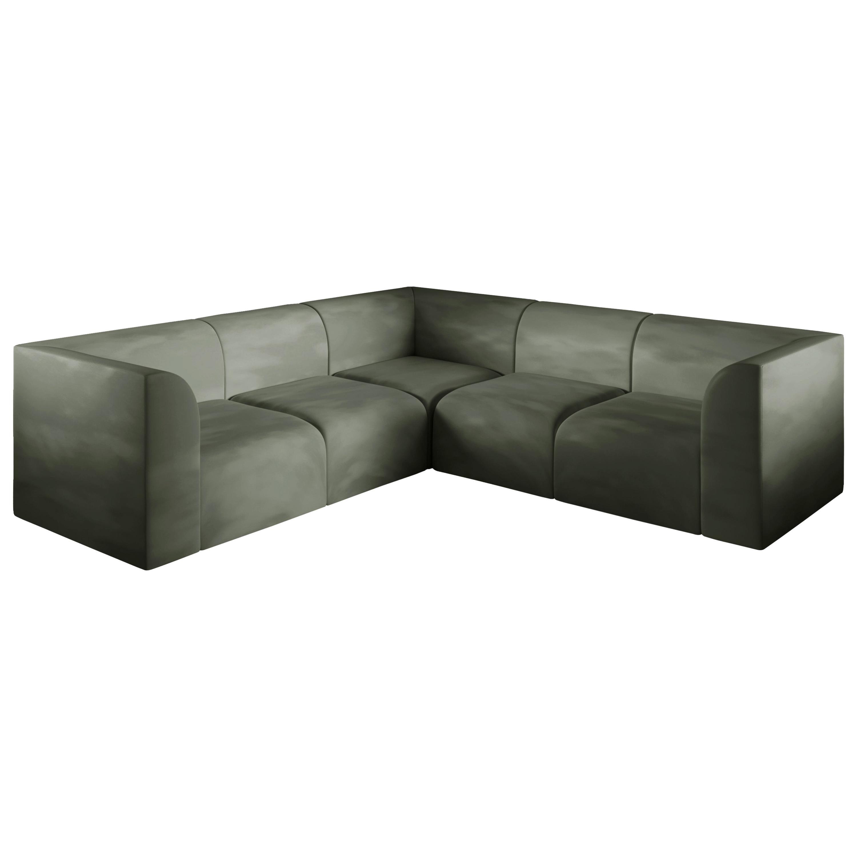 Archi L Shape Contemporary Sofa in Fabric by Artefatto Design Studio