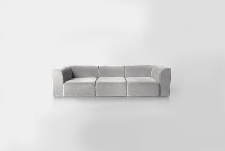 Archi Sofa in weichem Samt Made in Italy 5