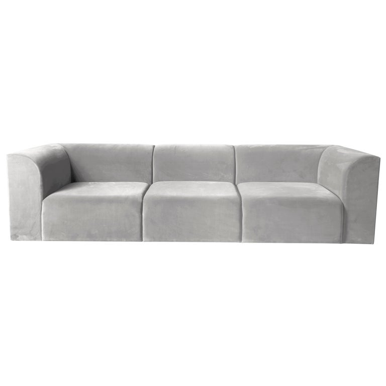 Archi Sofa in weichem Samt Made in Italy 1