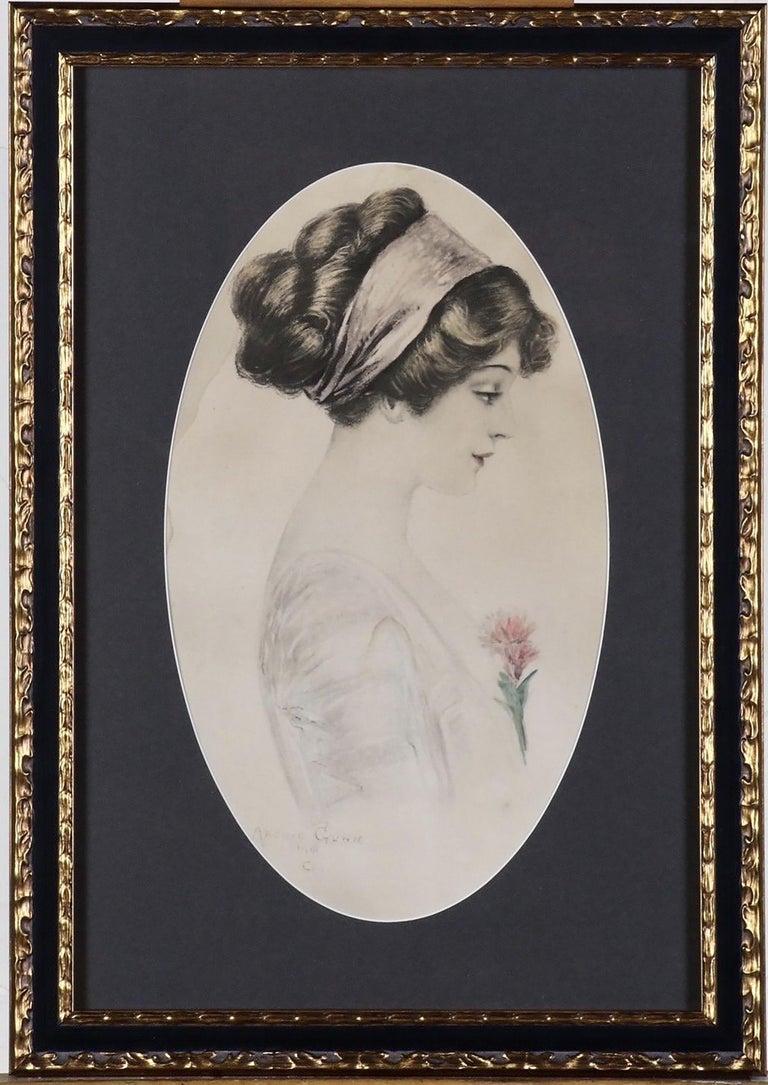 Profile of a Woman - Print by Archie Gunn