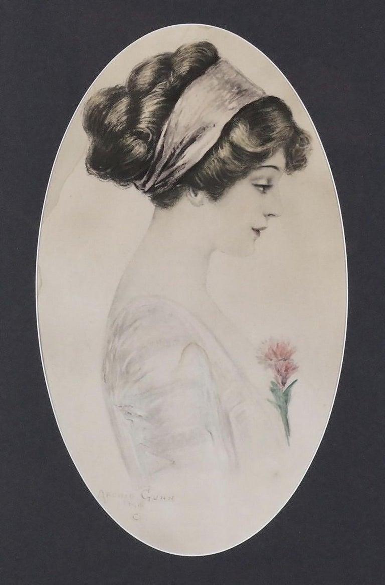 Archie Gunn Portrait Print - Profile of a Woman