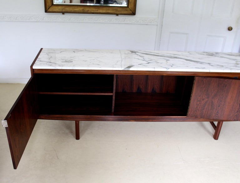 Archie Shine Robert Heritage Marble Brazilian Rosewood Sideboard For Sale 4