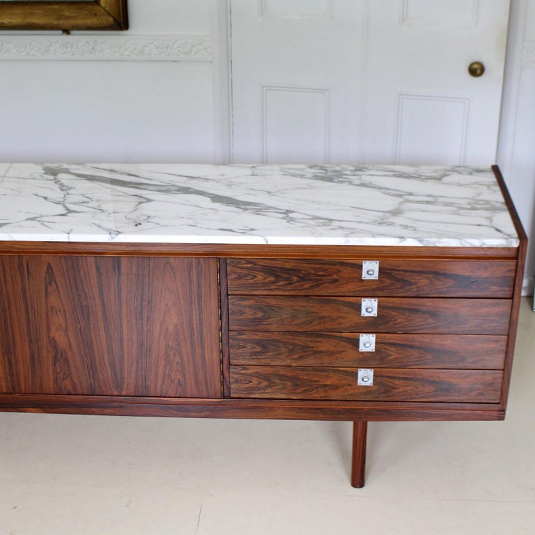 Archie Shine Robert Heritage Marble Brazilian Rosewood Sideboard For Sale 2