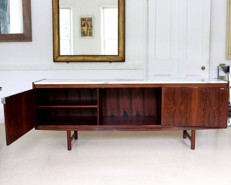 Archie Shine Robert Heritage Marble Brazilian Rosewood Sideboard For Sale 3
