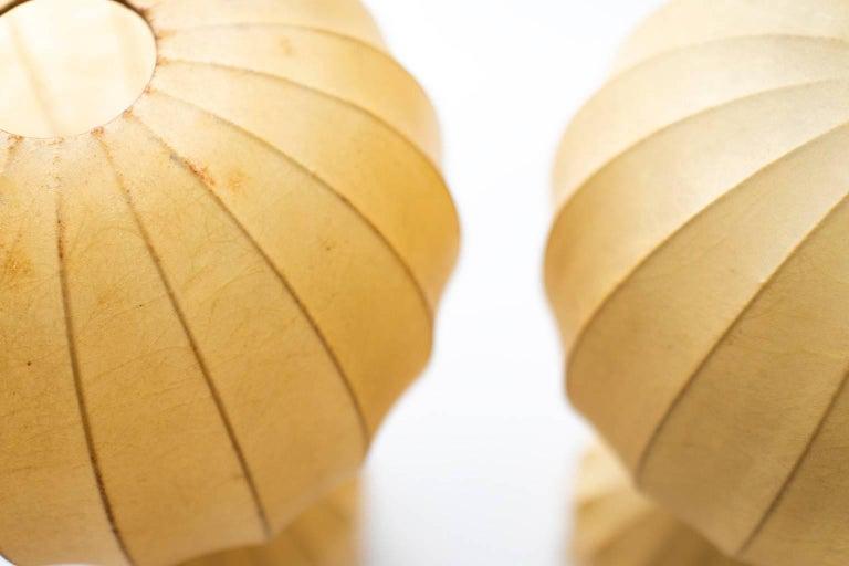 Natural Fiber Archille & Pier Giacomo Castiglioni for Flos Gatto Lamps For Sale