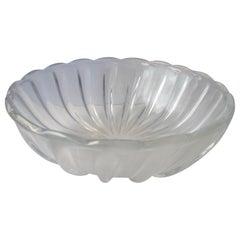 Archimede Seguso Large Vetri d'Arte Centerpiece/ Bowl, Murano Glass, Opalescent